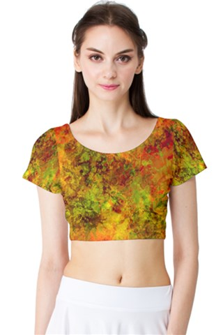 Nebula-II Short Sleeve Crop Top (Tight Fit)