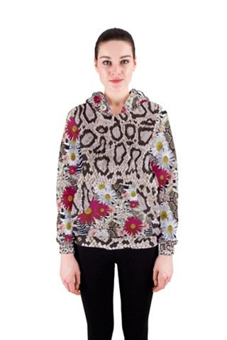 Animal-Print-&-Flowers Women s Zipper Hoodie