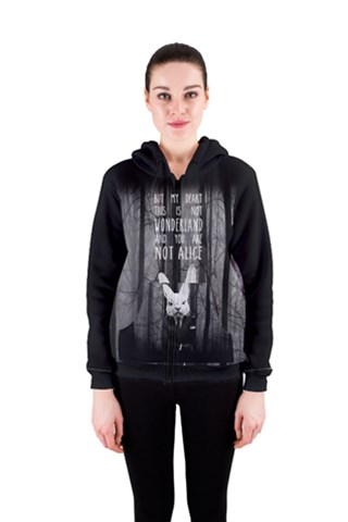 Rabbitman Women s Zipper Hoodie