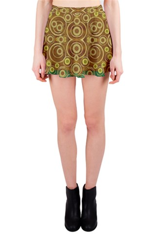 The Gothic Starry Night in wood Mini Skirt