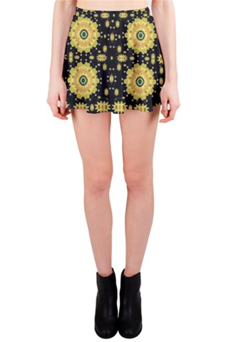 Metal and flowers in Peace Mini Skirt