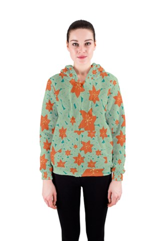 Moving Flower Women s Zipper Hoodie