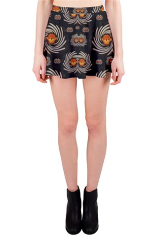 Pepitas seed decorative with flowers elegante Mini Skirt