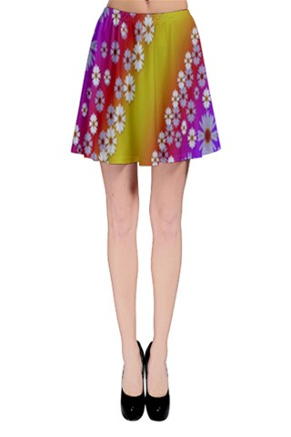 Peace in spring time and groovy colors Skater Skirt