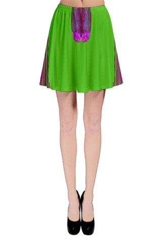Ladies looking at beauty and peace Skater Skirt