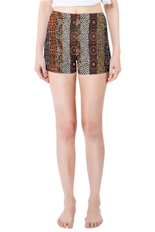 Geometric African Tribal Pattern Skinny Shorts