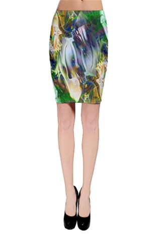 Green Marble Bodycon Skirt