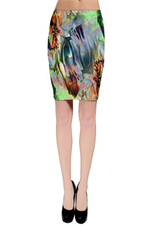 Crazy Marble Bodycon Skirt