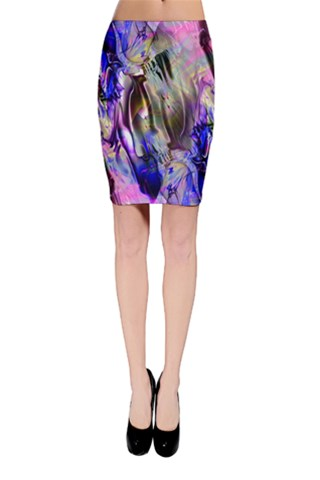 Crazy Marble 8 Bodycon Skirt