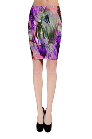 Crazy Marble 7 Bodycon Skirt