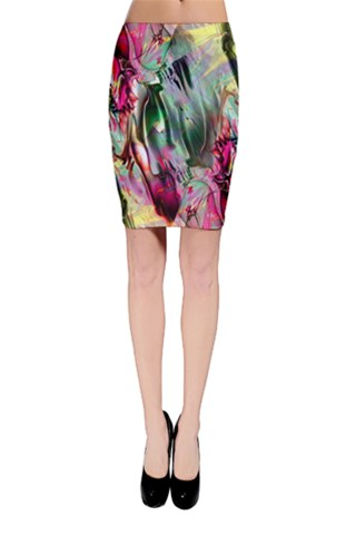 Crazy Marble 6 Bodycon Skirt