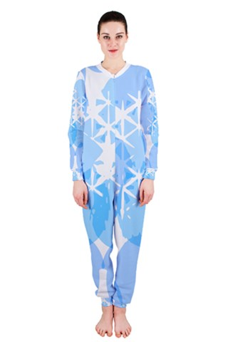 Bright blue dots and stars OnePiece Jumpsuit (Ladies)
