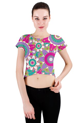 Flourish Crew Neck Crop Top