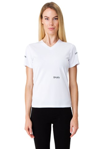 Earth And Water Women s V-Neck Sport Mesh Tee