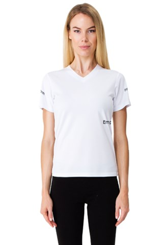 Hiking In The Mountain Women s V-Neck Sport Mesh Tee