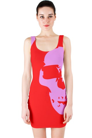 Red Skull by Rissarae Designs Bodycon Dress