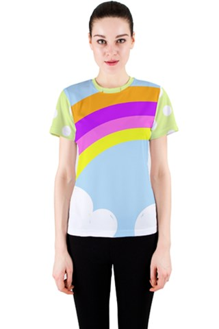 A rainbow by Rissarae Designs Women s Sport Mesh Tee