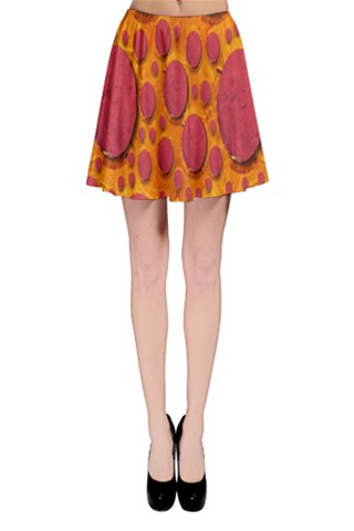 Polka Dots In a Pizza style Popart Skater Skirt