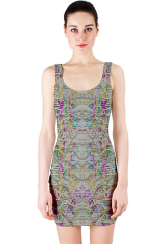 Colors for peace and lace in rainbows Bodycon Dress