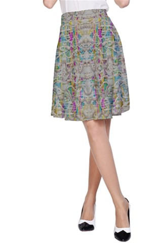 Colors for peace and lace in rainbows A-Line Skirt