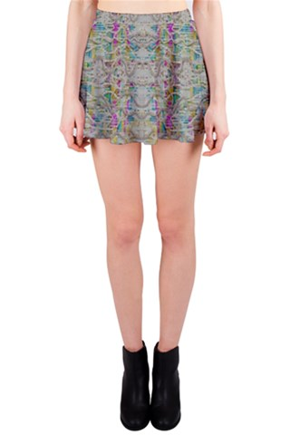 Colors for peace and lace in rainbows Mini Skirt