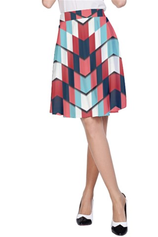 House of cards A-Line Skirt