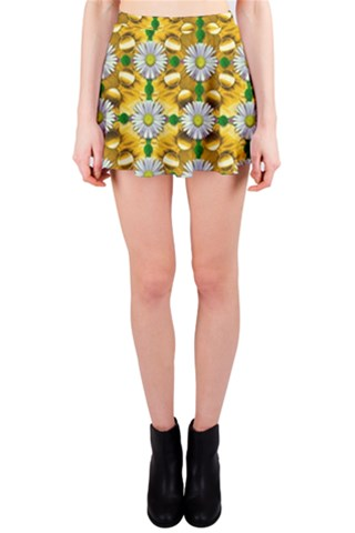 Summer festive in green grass  Mini Skirt