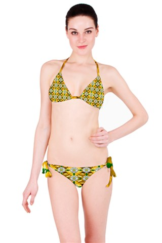 Summer festive in green grass  Bikini Set