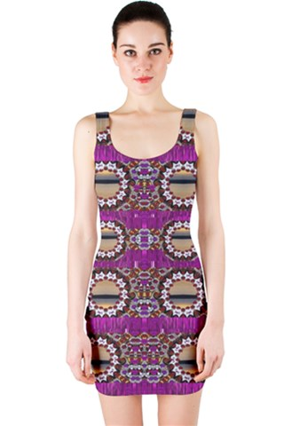 Rainbow love for the nature and sunset in calm and steady state Bodycon Dress
