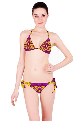 Orange Tree As Pop Art Bikini Set