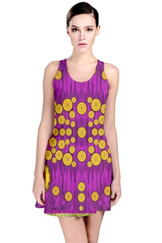 Orange Tree As Pop Art Reversible Sleeveless Dress