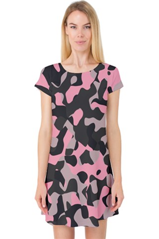 black and pink camo Cap Sleeve Nightdress
