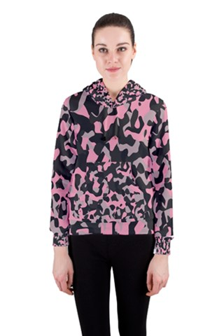 black and pink camo Women s Pullover Hoodie