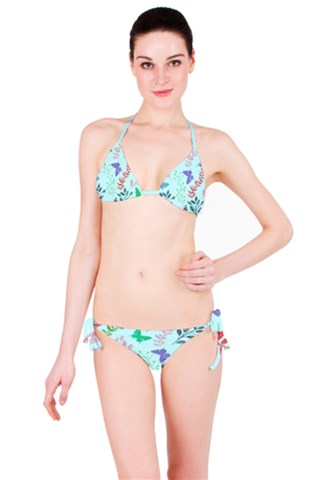 Watercolor Flowers & Butterflies  Bikini Set