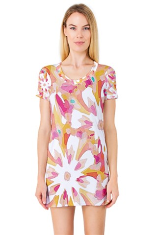 Burst Short Sleeve Nightdress