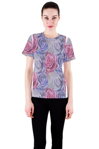 Red and Purple Roses Women s Classic Tee