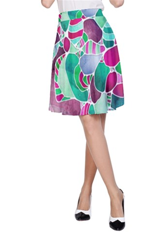 FrostedSeaGlass A-Line Skirt