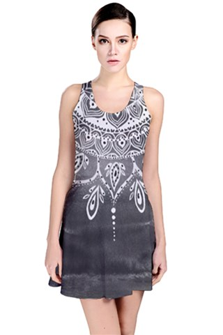 Black Mandala Reversible Sleeveless Dress